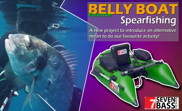 SPEARFISHING WITH BELLY BOAT SEVENBASS